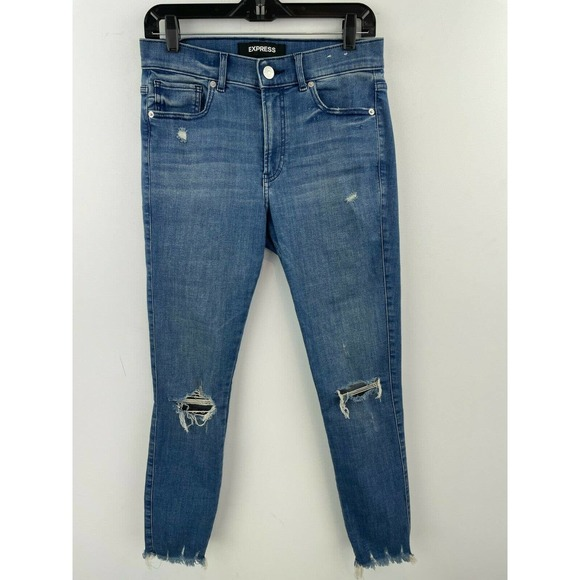 Express 8 High Rise Legging Skinny Jeans A6-07